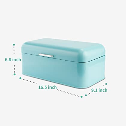 Turquoise Bread Box Inspiration SveBake Bread Box For Kitchen Retro Design Carbon Steel Bread Bin