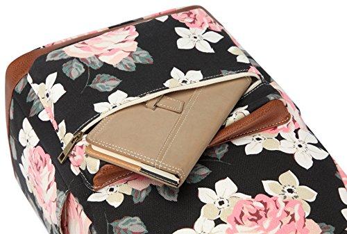 Kenox Girl's School Rucksack College Bookbag Lady Travel Backpack 14Inch Laptop Bag (Floral) by Kenox (Image #4)