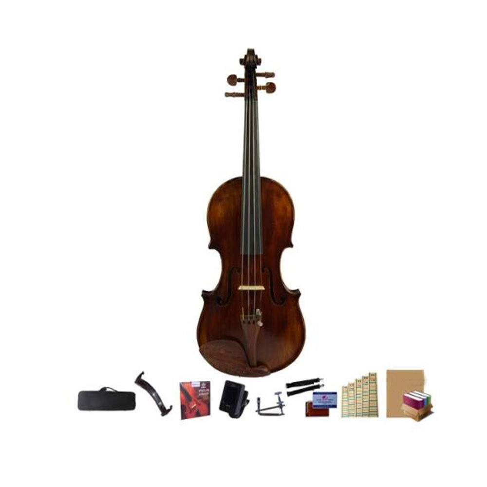 Youshangshipin Violin, Antique Violin Grading Solid Wood Violin, Beginner Professional Hand-Made Children's Adult Violin, (Full Size) Fine Texture (Size : 1/2) by Youshangshipin