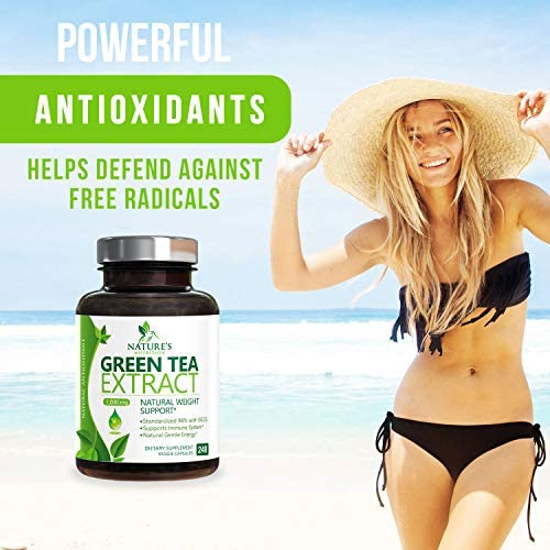 Green Tea Extract 98% Standardized Egcg for Healthy Weight Support 1000mg - Supports Healthy Heart, Metabolism & Energy with Polyphenols - Gentle Caffeine, Made in USA - 240 Capsules 5
