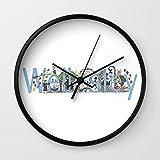 Society6 Wellesley College By Stephanie Hessler '84 Wall Clock Black Frame, Black Hands