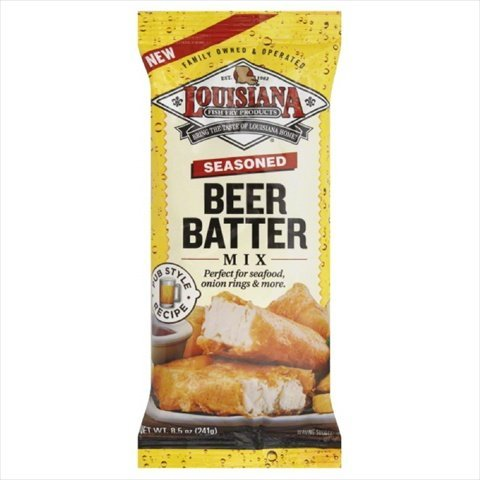 Louisiana Seasoned Beer Batter Mix, 8.5 Ounce - 12 per case.