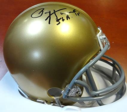 Paul Horning Signed Notre Dame Play Like Champion Mini Helmet 56 Heisman Beckett
