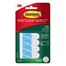 Command Outdoor Small Foam Strip Refills, 16 Small Strips, (17022AW-EF)