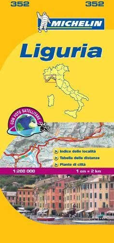 Michelin Map Italy: Liguria 352 (Maps/Local (Michelin)) (Italian Edition)