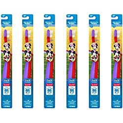 Oral-B Pro-Health Stages My Friends Manual Kid's Toothbrush,(Pack of 6), Packaging May Vary - Cars or Minnie Mouse, etc.