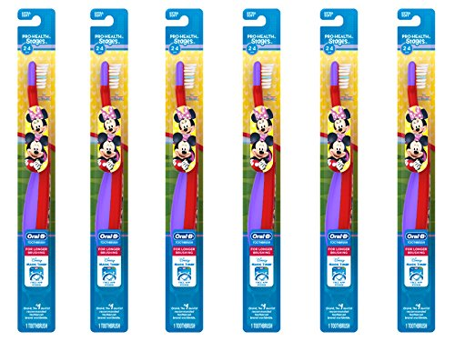 Oral-B Pro-Health Stages My Friends Manual Kid's Toothbrush,(Pack of 6), Packaging May Vary – Cars or Minnie Mouse, etc.