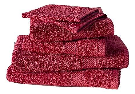 De Witte Lietaer 201390 Set de 2 Gants 2 Serviettes 50 x 100 cm 2 Draps de Douche 70 x 140 cm Coton Rose