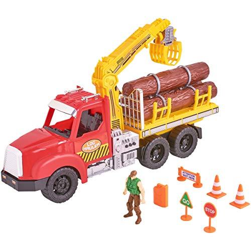 inov Log Hauler Play Set 11 Pieces Logging Truck ()