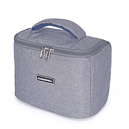 Lunch Bag Kingswell I7601 Mini Picnic Cooler Bag for Outdoor Fishing Camping and Hiking(Gray)