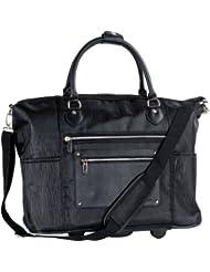 CALPAK Zanny Black Grain 21-inch Laptop Tote Bag