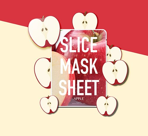 KOCOSTAR, KOCOSTAR Slice Mask Sheet Apple, KOCOSTAR Slice Mask Sheet Apple รีวิว, KOCOSTAR Slice Mask Sheet Apple ราคา, Slice Mask Sheet Apple, KOCOSTAR Slice Mask Sheet Apple 20 g.