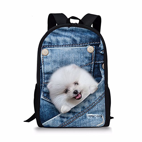 TOREEP Cute Pet in Pocket Cowboy Design School Outdoor Backpack(Pet One)