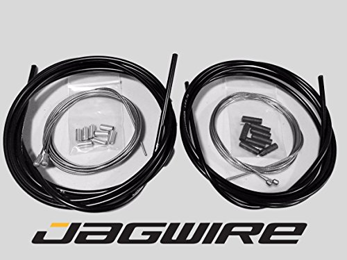 Brake Campy Cable (JAGWIRE ROAD SHOP KIT - Complete Brake & Shifter Cable and Housing Kit- Black - Campagnolo)