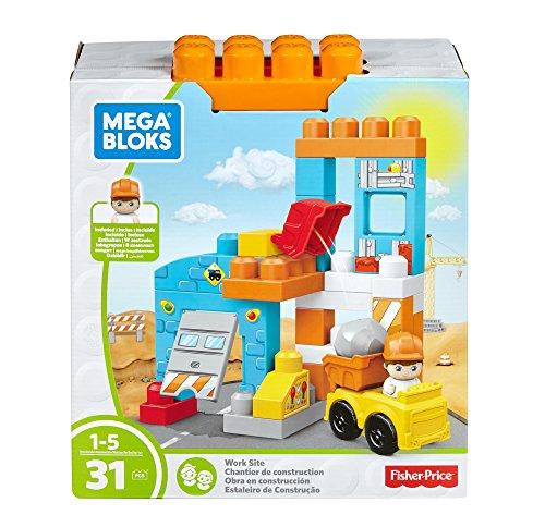 Mega Blocks Dump Truck (Mega Bloks Spin 'N Play Construction Site Playset Building Kit)