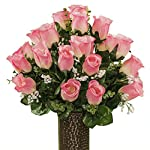 Pink-Roses-featuring-the-Stay-In-The-Vase-DesignC-Flower-Holder-SM1960