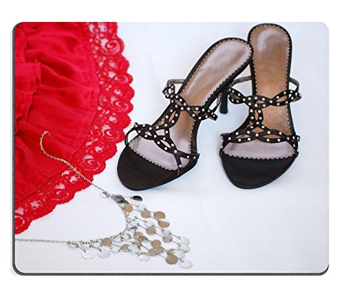 [Luxlady Gaming Mousepad Elegant lady shoe with attractive red skirt and bijouterie IMAGE ID 3106284] (Pink Lady Costume Images)
