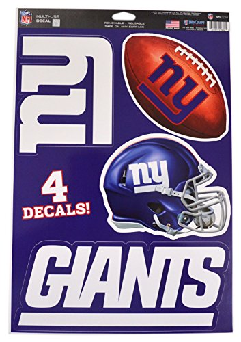 Official National Football League Fan Shop Licensed NFL Shop Multi-use Decals (New York Giants)