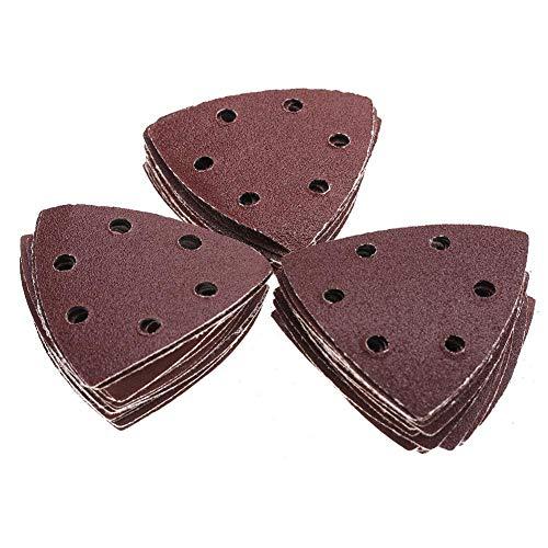 50 Unids Triangular Sander Paper 3.5 * 3.5'80-320 Grit Sander Lijado Pulido Papel Almohadillas Abrasivo Juego de papel de...