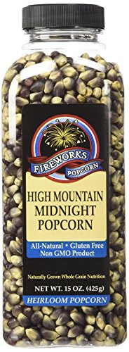 Fireworks Popcorn High Mountain Midnight Popcorn, 15-Ounce Bottles (Pack of 6) (Unpopped Popcorn Gift Baskets)