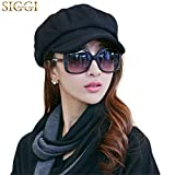 Siggi Womens Visor Beret Newsboy Hat Cap for Ladies Merino Wool
