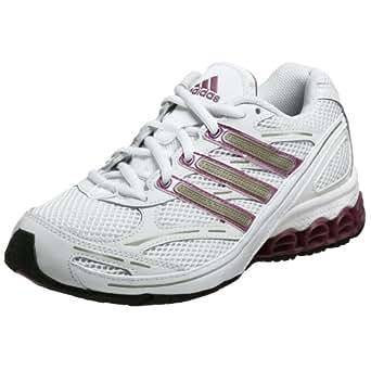 adidas Women's HARMONY W Running Shoe,White/Cherry/Radian,7.5 M