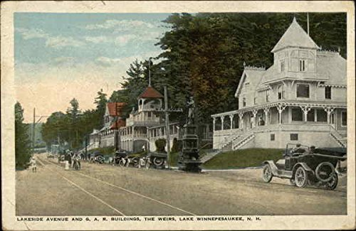 Lakeside Avenue and G.A.R. Buildings Weirs Beach, New Hampshire Original Vintage - The Avenue Ga