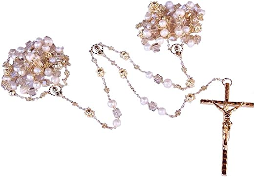 lasso rope// wedding rosary lasso// unity cord wedding crystal lasso
