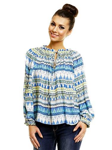 Luzabelle - Camisas - para mujer amarillo/azul