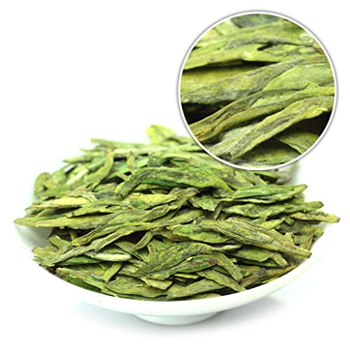 GOARTEA 500g (17.6 Oz) Organic Nonpareil Supreme West Lake Xi Hu Xihu Dragon Well Long Jing Longjing Spring Leaf GREEN TEA by GOARTEA