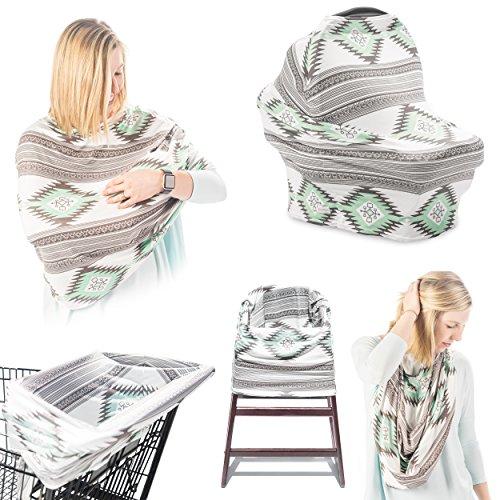 Breastfeeding Cover, 5-in-1 Breastfeeding Cover, Baby Car Seat Covers, Car Seat Covers for Babies, Breastfeeding Cover Ups, Infant Car Seat Canopy, Breastfeeding Nursing Cover