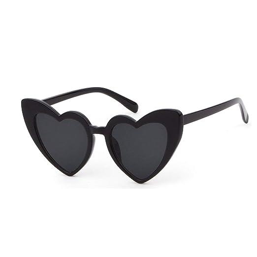 dba5d269f61 Amazon.com  Clout Goggle Heart Sunglasses Retro Vintage Cat Eye Mod ...