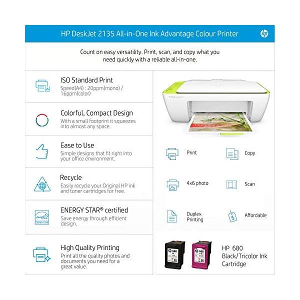 HP DeskJet 2135 All-in-One Ink Advantage Colour Printer 4