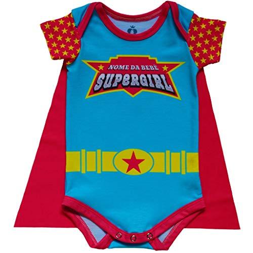 Body Bebê Fantasia Super-Heroína - Isabb
