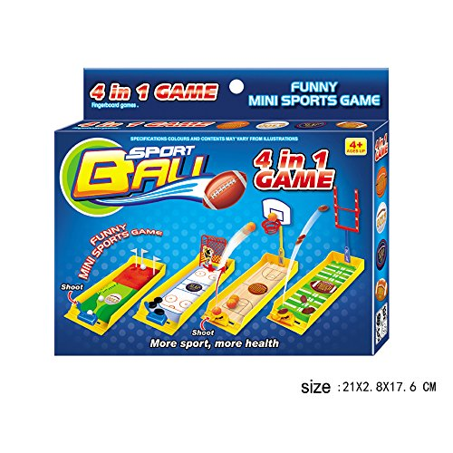 Desktop Basketball Hoop Golf Football Soccer Hockey Game Toy Mini Finger Sports for Kids Party Office 4 Sets