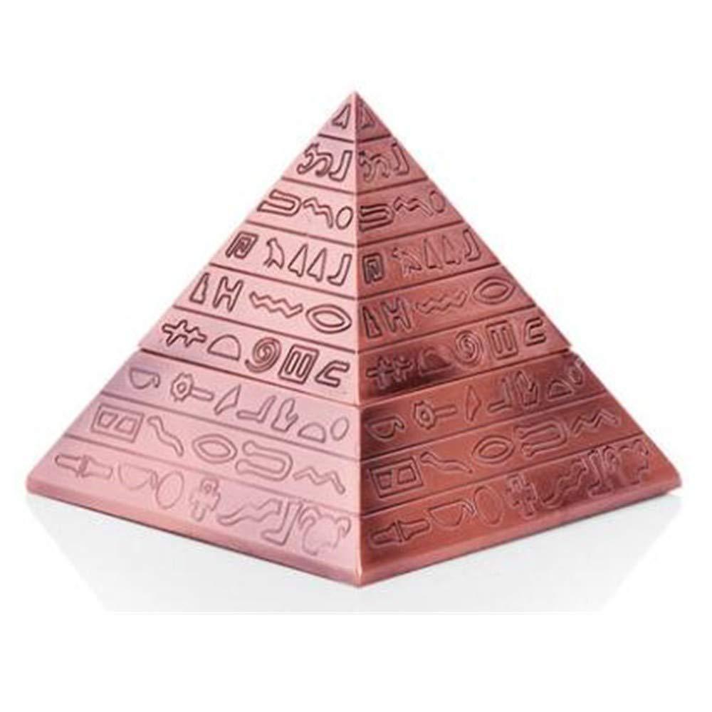 SHULING Cenicero Creativo De La Pirámide Diseño Retro De La Clavícula del Diseño De La Personalidad Clásica Europea De La Manera, Pátina De Plata