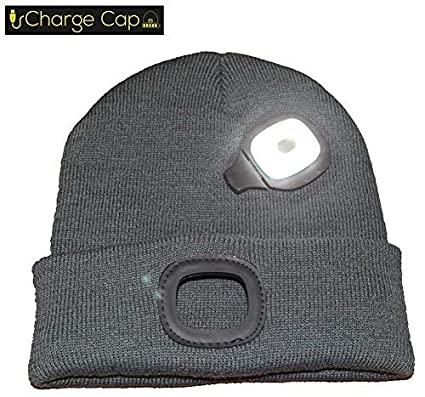 a87456496 CHARGE CAP USB LED headlamp BEANIE - Activewear LED headlamp. Remove +  Recharge bright LED lights, NO BATTERIES TO REPLACE, LED Beanie hat