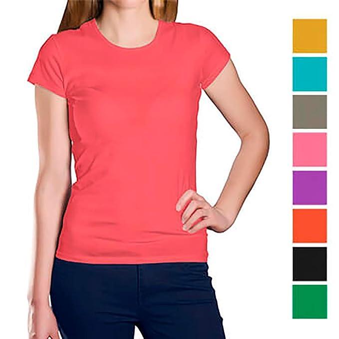 APRIL Camisetas Personalizadas para Mujeres con la Imagen y el Texto Que Quieras: Amazon.es: Ropa y accesorios