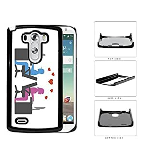 Social Media Computer Nerd Lovers Hard Plastic Snap On Cell Phone Case LG G3 by supermalls
