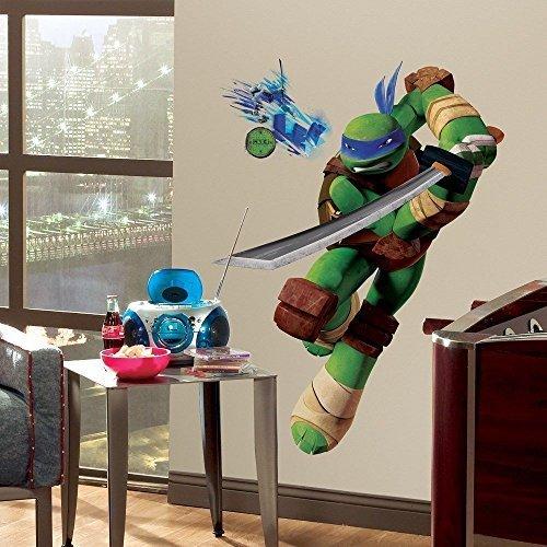 [New Giant LEONARDO WALL DECALS Teenage Mutant Ninja Turtles Stickers Kids Mural] (Teenage Mutant Ninja Turtles Giant Wall Decal)