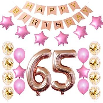 Amazon.com: 40 inch oro rosa Foil 65 helio Jumbo número ...