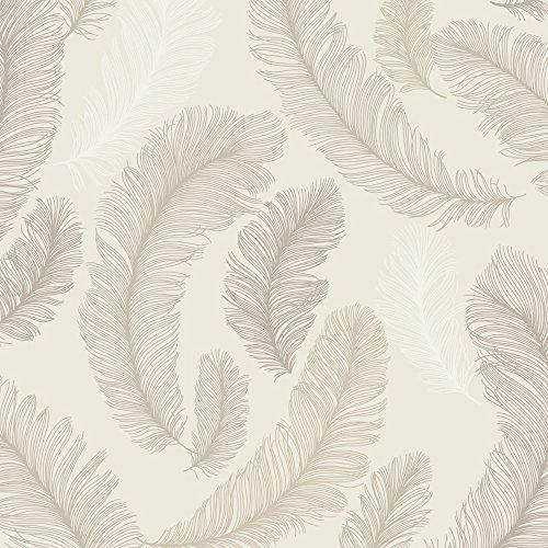 Grandeco Reflect Feather Pattern Wallpaper Bird Glitter Textured Motif RE2005 Amazoncouk DIY Tools