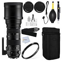 Sigma 150-600mm F5-6.3 DG OS HSM (S) Lens for Canon EF Cameras + UV Filter + Front & Back Lens Cap + Case & more