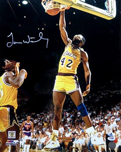 James Worthy Signed Autographed 16X20 Photo Lakers Home Slam Dunk Beckett B10964