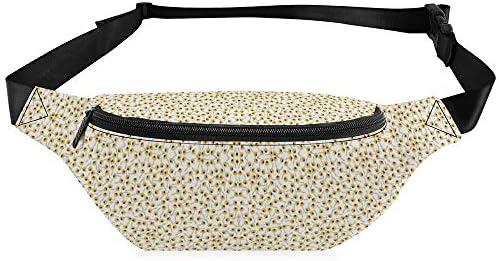 黄色のデイジー ウエストバッグ ショルダーバッグチェストバッグ ヒップバッグ 多機能 防水 軽量 スポーツアウトドアクロスボディバッグユニセックスピクニック小旅行