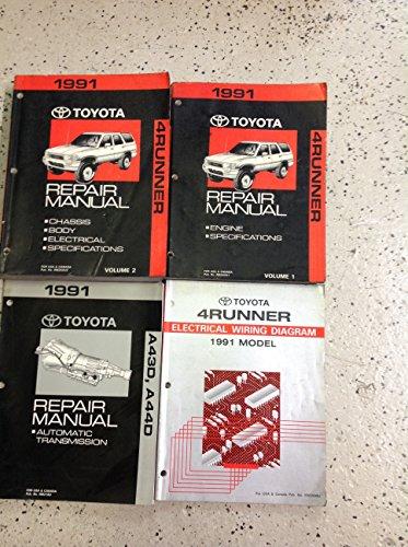 1991 TOYOTA 4RUNNER Service Shop Repair Manual Set OEM W EWD & Transmission BK