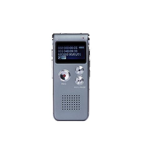 Batería de 8 GB Grabadora de Voz Digital dictáfono Reproductor de mp3 Sound Record
