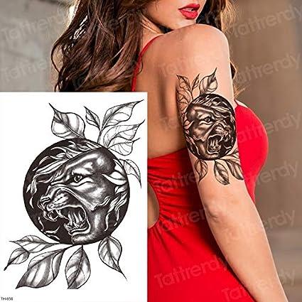 tzxdbh 3 unids/Lote Tigre Temporal Tatuaje Tatuaje Pantera Negra ...