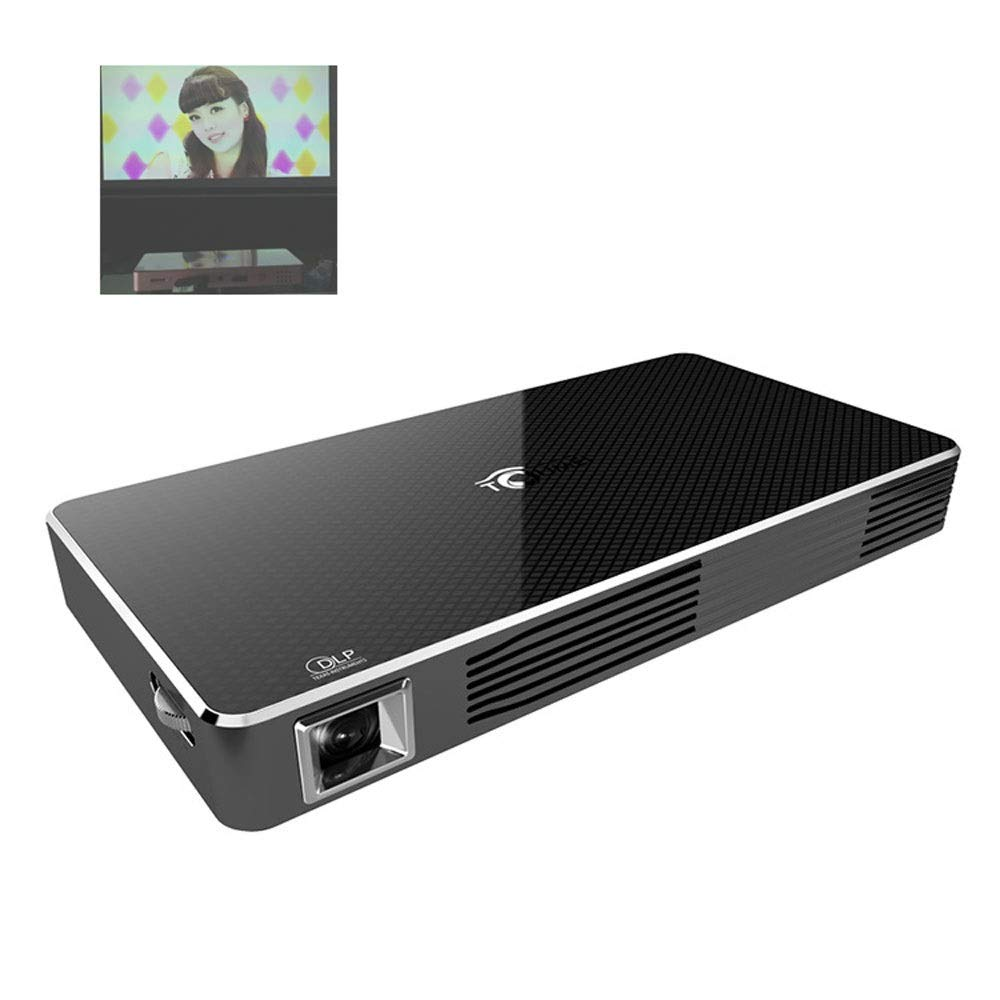 LiChenYao LED Projector Mobile Phone Wireless Projector Office Home WiFi Android 1080P Mini Projecto