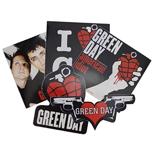 Green Day official 5 sticker set - Green Day Stickers